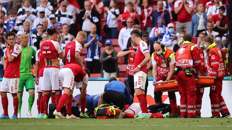 Euro 2020: Christian Eriksen zasłabł i padł na murawę w meczu Dania - Finlandia