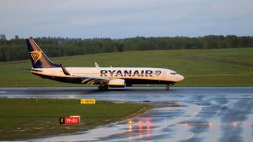 Informacja o bombie na pokładzie Ryanaira. Białoruskie władze: autorzy podpisali się jako Hamas