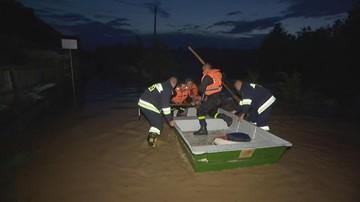 Podtopienia na Lubelszczyźnie po gwałtownej burzy. Woda zalała domy i drogi