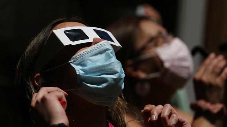 Tłumy turystów w Chile. Mimo pandemii chcieli zobaczyć zaćmienie słońca