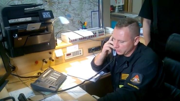 Strażak-bohater uratował niemowlę przez telefon