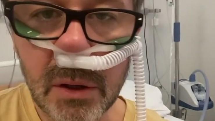 Andrzej Piaseczny ma koronawirusa. Opublikował nagranie ze szpitala