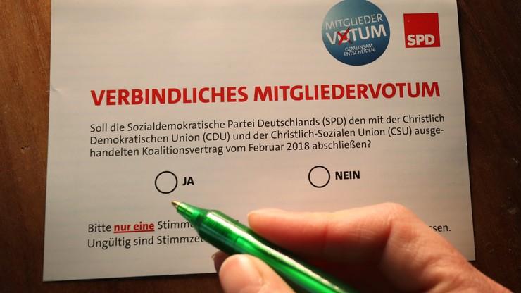 Ruszyło referendum w SPD, które zaważy na losach koalicji w Niemczech