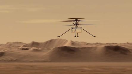 Wielki sukces marsjańskiego helikoptera. Zobacz, jak wyglądał jego pierwszy lot