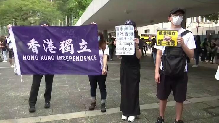 """Kontrowersyjne prawo w Hongkongu. Pierwszy oskarżony o """"działalność terrorystyczną"""""""