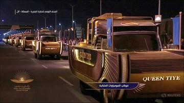 Mumie faraonów na ulicach Kairu. Uroczysta parada [WIDEO]