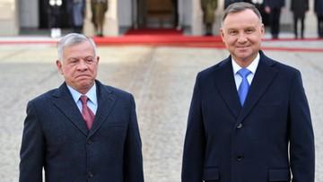 Andrzej Duda spotkał się z królem Jordanii. Wśród tematów wschodnia granica Polski