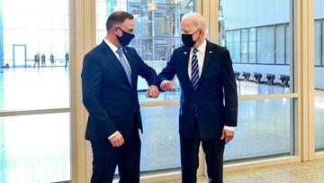 """Spotkanie Andrzeja Dudy z Joe Bidenem. """"To jasny sygnał"""""""