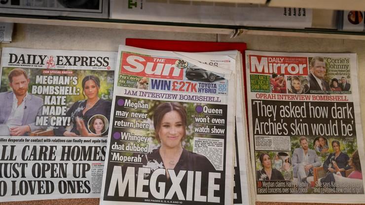 Sondaż. Brytyjczycy uważają wywiad Harry'ego i Meghan za niestosowny