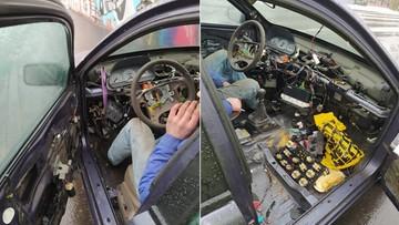"""Zdemolowanym autem jechał """"naprawić usterki"""""""