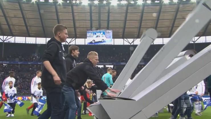 Spotkanie 11. kolejki niemieckiej Bundesligi pomiędzy drużynami Herthy Berlin i RB Lipsk