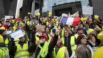 """Francja: AFP: 35 aresztowanych w Paryżu po proteście """"żółtych kamizelek"""""""