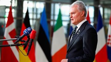 """Apel prezydenta Litwy podczas szczytu UE. """"Trzeba postawić barierę. Nikt nie wie, co będzie jutro"""""""