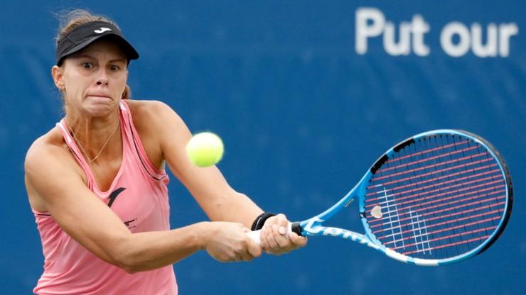 WTA w Nowym Jorku: Magda Linette odpadła też w 1. rundzie debla