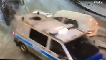 Gliwice: pijany 25-latek wjechał golfem w radiowóz