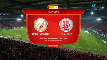 Widzew Łódź - ŁKS Łódź 1:2. Skrót meczu