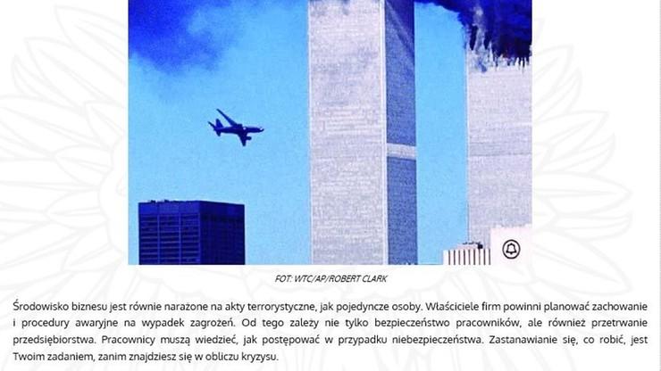 Terroryzm - co robić w sytuacji zagrożenia. Poradnik MSWiA z kontrowersyjnym zdjęciem