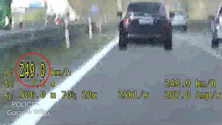 Gorzów Wielkopolski. Jechał S3 prawie 250 km/h. Nie wierzył, że dogonił go radiowóz