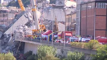Genua: ekipy ratunkowe wciąż szukają ludzi pod gruzami. Zaginionych nawet 20 osób