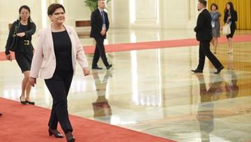 Szydło: Polska jest postrzegana przez Chiny jako brama do współpracy z UE
