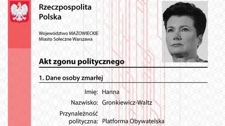 """Zażalenie Gronkiewicz-Waltz ws. """"politycznych aktów zgonu"""" w gdańskiej prokuraturze"""