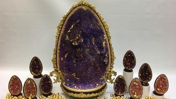 Ozdobione złotem i wykonane z czterech rodzajów czekolady. Belgijskie, wielkanocne jajo za 20.000 zł