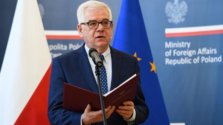 Szef MSZ: droga art. 7. zdaniem Komisji Europejskiej może być nieskuteczna