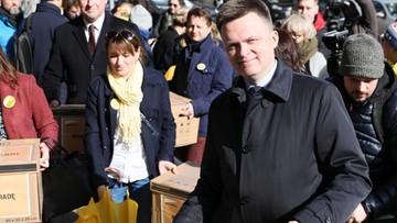"""Hołownia zawiesza kampanię wyborczą. """"Polacy potrzebują dziś otuchy"""""""