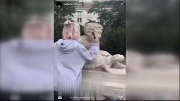 """Zniszczyła młotkiem zabytkową figurę w warszawskim parku. """"Akt niewiarygodnego barbarzyństwa"""""""