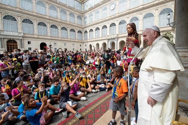 Papież Franciszek spotkał się z dziećmi przybyłymi na święto dedykowane gościnności