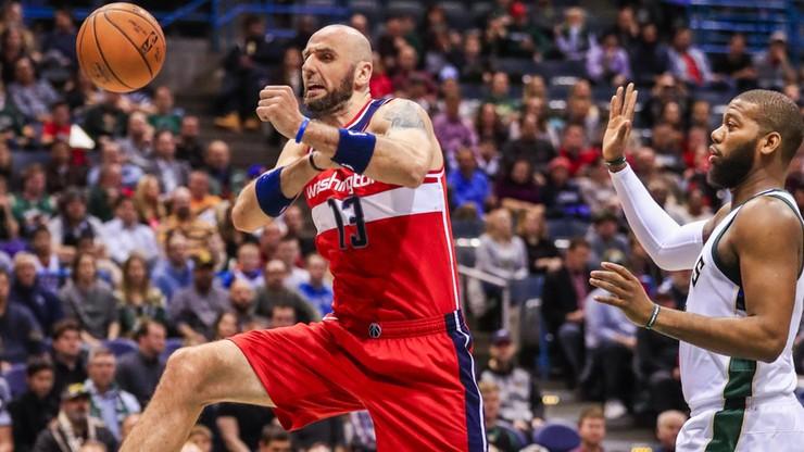 """NBA: Gortat bez błysku, ale """"Czarodzieje"""" z wygraną"""
