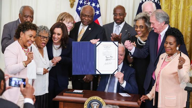 USA. Prezydent podpisał ustawę ustanawiającą państwowe święto upamiętniające koniec niewolnictwa