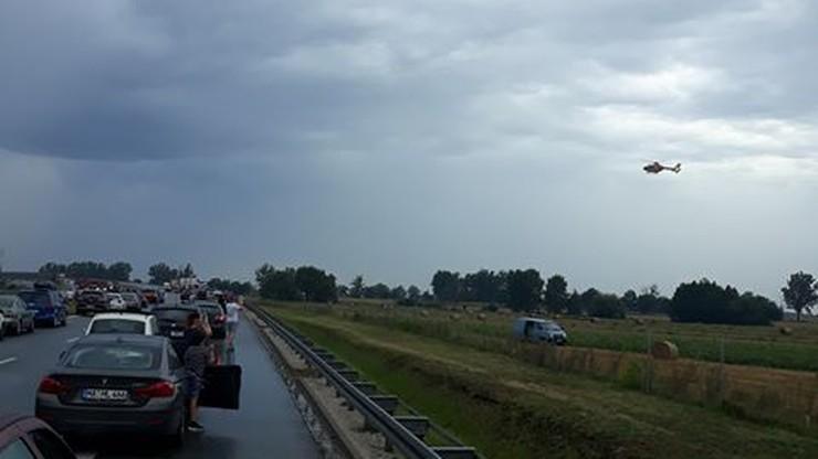 Wypadek na A1. Trzy osoby zostały ranne