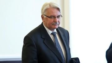 Waszczykowski: nie zapraszałem Timmermansa ponownie do Polski