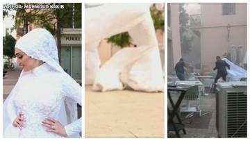 Wybuch w Bejrucie przerwał sesję ślubną [WIDEO]