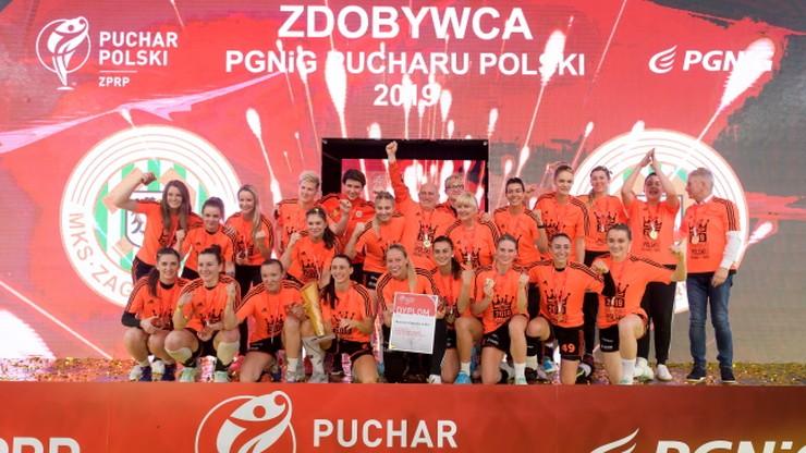 Piłkarki ręczne Metraco Zagłębia Lubin z Pucharem Polski