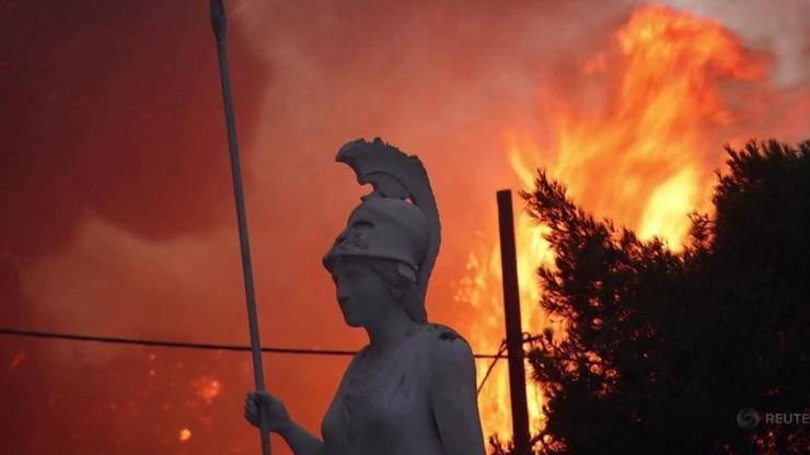 """Grecja. Pożary w pobliżu Olimpii i na Eubei. """"Toczy się walka tytanów"""""""