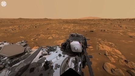 14-06-2021 09:00 Tak wygląda panorama krateru Jezero na Marsie z perspektywy łazika Perseverance [WIDEO]
