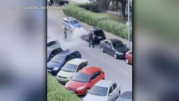 Chciał przejechać 7-latka, a następnie spryskał policjantów gaśnicą