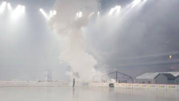 Pożar na PGE Stadionie Narodowym. Spłonął namiot rozstawiony na płycie