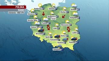 Prognoza pogody - wtorek, 20 kwietnia - rano