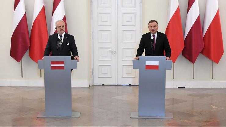 Prezydent Łotwy z wizytą w Warszawie. Nowa KE i kwestia obronności wśród tematów rozmów z Dudą