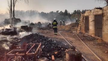 Ogromny pożar na Mazowszu. Z ogniem walczyło ponad 100 strażaków