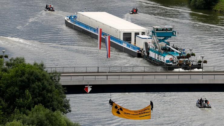 Odpady nuklearne na statku w Niemczech. Pierwszy taki transport