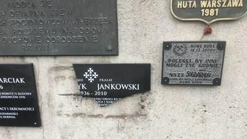 W Gdańsku zniszczono tablicę poświęconą ks. Jankowskiemu