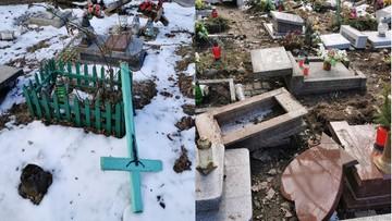 Zniszczone płyty, przewrócone krzyże. Zdewastowano dziecięce groby