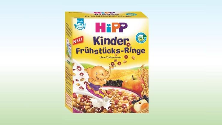 HiPP wycofuje kółeczka śniadaniowe dla niemowląt. W opakowaniu może być metal