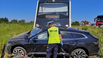 Zderzenie auta z szynobusem. Zginął pasażer