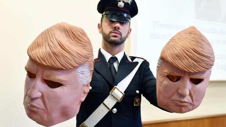 Zakładali maski Donalda Trumpa i okradali bankomaty