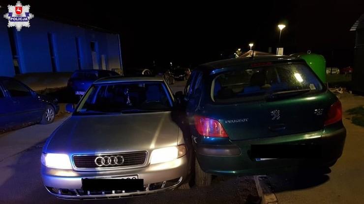 Oboje byli pijani, prowadzili auto na zmianę. Uszkodzili pięć samochodów